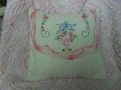 Chenille Pillow Vintage Dresser Scarf Throw/ by ShuggiesAttic, $18.00