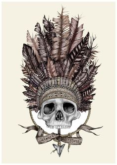 Love this combination to death. Skulls and headdress.