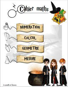 Pages de garde thème Harry Potter Harry Potter Teachers, Harry Potter Onesie, Décoration Harry Potter, Harry Potter Classroom, Harry Potter Outfits, Harry Potter Characters, Movie Characters, Maths Halloween, Harry Potter Francais