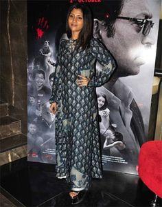 Konkona Sen Sharma in maxi dress Bollywood Celebrities, Bollywood Fashion, Kalamkari Dresses, Casual Street Style, Daily Wear, New Outfits, Ethnic, Kimono Top, Cinema