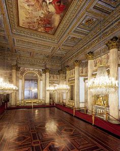 Ballroom, Palazzo Reale, Turin, Piedmont, Italy