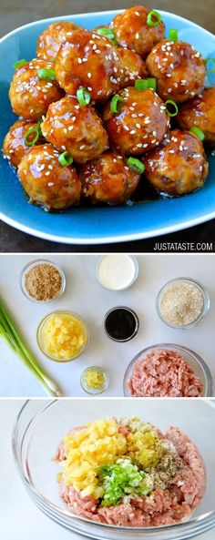 Baked Teriyaki Chicken Meatballs-sub GF breadcrumbs