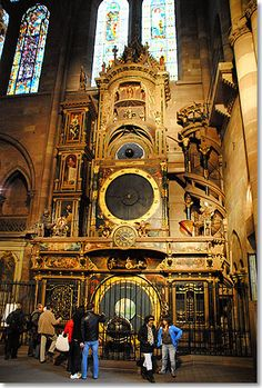 Astronomical Clock inside of Strassbourg Cathedral. Astrogeographic position: located in Libra sign of decoration, symmetry, balance, beauty and highly energetic royal fire sign Leo sign of the Sun (solar cycles), light. Field level 4.