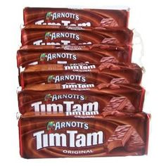 have a tim tam Gourmet Recipes, Snack Recipes, Healthy Milk, Tim Tam, Australia Day, Biscuit Cookies, Treat Yourself, Food And Drink, Chips