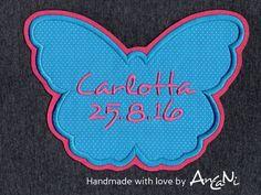 Aufnäher - Aufnäher Schmetterling Wunschname Datum♥ Appli - ein Designerstück von AnCaNi bei DaWanda