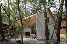 Casa pequeña de hormigón para climas cálidos y frios