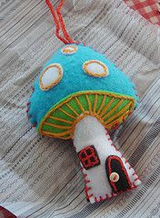 colorful felt shroom-so sweet