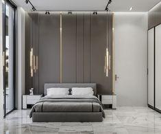 Bad Room Design, Bed Design, Design Bedroom, Contemporary Interior, Modern Interior Design, Bedroom Wall, Bedroom Decor, Bed Room, Bed Furniture