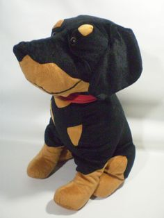 f9de64d568a Toy Factory DOBERMAN PINSCHER ROTTWEILER ROTTY Plush Puppy Dog LARGE  Sitting 19