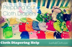 How to Prep your cloth diapers