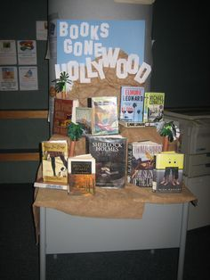 Digressions of a Sponge for Knowledge: Book Displays - movies from books: Teen Library Displays, Library Themes, School Displays, Library Ideas, Library Decorations, Library Work, Class Library, College Library, Middle School Libraries