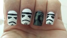 Star wars nails #starwars #nails #nailart