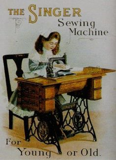 The Singer Sewing Machine by Olde America Antiques. The Singer Sewing Machine. CHILDREN from Olde America Antiques Online. Images Vintage, Vintage Diy, Vintage Cards, Vintage Postcards, Vintage Style, Vintage Craft Room, Treadle Sewing Machines, Antique Sewing Machines, Vintage Sewing Patterns
