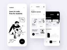 Take your first steps to a new career, or work on your coding skills with our new interactive educational platform for aspiring programmers. Learn Python, JavaScript, or any oth. Mobile Ui Design, App Ui Design, Dashboard Design, Best App Design, Android Design, Design Web, Graphic Design, Pop Design, Design Youtube