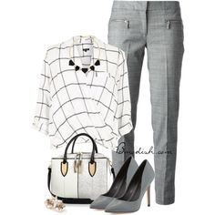 Office Chic by wulanizer on Polyvore featuring River Island, MICHAEL Michael Kors, Charles David, Express and Ippolita