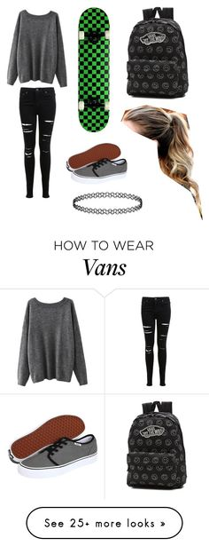 """Sk8 chick"" by littlemuffin7 on Polyvore featuring Miss Selfridge and Vans"