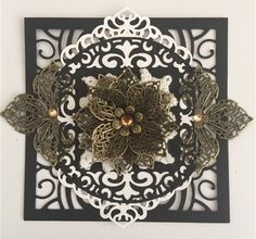September Giveaway Challenge Inspiration by Monica– ButterBeeScraps September Challenge, Metal Crafts, Bead Caps, Craft Tutorials, Crystal Rhinestone, Quilling, Filigree, Paper Flowers, Embellishments