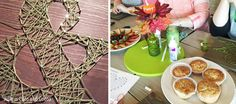 String Art Ampersand at the North Texas MADE craft party