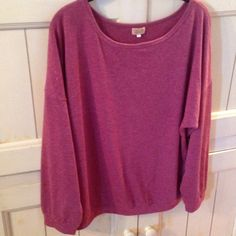 Comfy dolman style top Piko 1988 dolman style long sleeve top, heathered maroon, size L, cotton/poly blend (I believe-I cut that tag out!), very soft & comfy, gently worn, purchased at a boutique Piko 1988 Tops