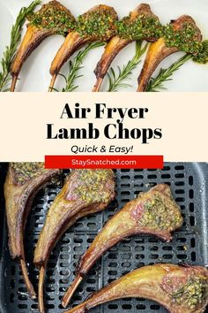 This Juicy Air Fryer Lamb Chops recipe will provide you all of the tips and tricks you need to prepare a rack of chops or loin chops. These chops are seasoned with rosemary, garlic, oregano, and olive… Air Fry Recipes, Air Fryer Dinner Recipes, Healthy Recipes, Lamb Chop Recipes, Loin Chops, Air Fryer Healthy, Party Food And Drinks, Chops Recipe, Quick Easy Meals