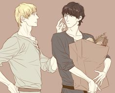 Merthur. This is so fluffy and domestic and precious. GAH.