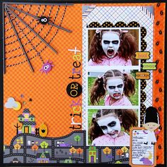 BOO! Halloween Parade Layout by Jodi Wilton (love the Pixies spider web)