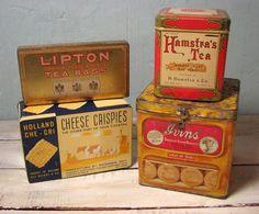 vintage tea tins - Google Search