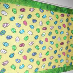 Easter Eggs in the Grass Table Runner by ColdStreamCrafts on Etsy