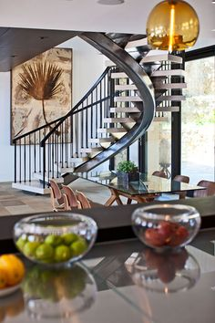 very cool spiral stairs