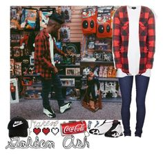 """""""Tokyo's Coca Cola"""" by fashionsetstyler ❤ liked on Polyvore featuring Kate Spade, Dr. Denim, Retrò, Topshop and REBEL8"""