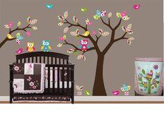 Children Wall Decal Pattern Leaf Wall Art Tree by NurseryWallArt, $99.99