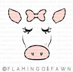 cow face svg show cow svg pig dxf farm svg farming svg Cartoon Cow Face, Show Cows, Cow Logo, Cow Tattoo, Cow Drawing, Cow Shirt, Baby Cows, Cute Cows, Easy Drawings