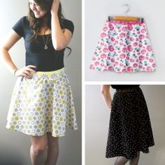 Free Half Circle ladies skirt sewing pattern by Camelot Design Studio