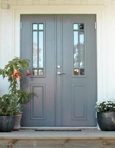 Debussy pardörr Swedoor Versace Wallpaper, Stairs And Doors, House By The Sea, Exterior Doors, Garden Inspiration, Building A House, Entrance, Garage Doors, Sweet Home