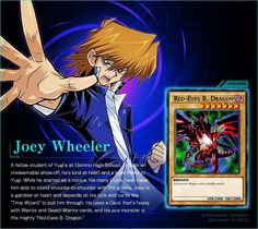 Joey Wheeler & Red-Eyes Black Dragon (Duel Links). #yugioh #duellinks #joeywheeler #dark #dragon #redeyesblackdragon
