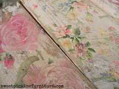 Sweet Pickins - napkins on wood - DIY project