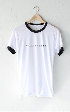 - Description - Size Guide Details: Super soft, unisex fit white ringer tee by…