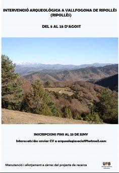 Intervención arqueológica en Vallfongona de Ripollés (Ripollés, Girona), del 5 al 25 de agosto de 2013.
