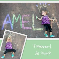 Pavement Art...this would be so cute for sissy!
