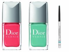 Dior Vernis in Bikini & Saint Tropez and Dior liner in Turquoise