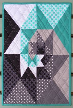 Love this quilt block - great colours and interesting design (inspired by a Gotye song film clip) Flying Blind On A Rocket Cycle: Modern Mini Challenge #quilting #patchwork