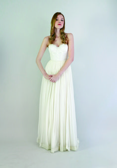 Shop affordable Lace And Chiffon Strapless Gown Samantha Size 10 Dress at June Bridals! Over 8000 Chic wedding, bridesmaid, prom dresses & more are on hot sale. Size 12 Wedding Dress, Wedding Dress Chiffon, Chiffon Gown, Perfect Wedding Dress, Strapless Gown, Grace Loves Lace, Leanne Marshall Wedding Dresses, Bridal Gowns, Wedding Gowns