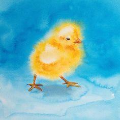 Пасхальный цыпленок № 6 от Ольги Беляев Акварели