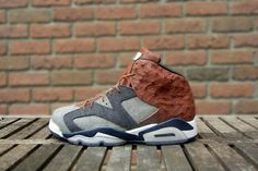 """Air Jordan 6 """"Ostrich & Denim"""" by JBF Customs-Chubster favourite ! - shoes for men - chaussures pour homme - Air Max Sneakers, Sneakers Nike, Jordan Vi, Latest Sneakers, Nike Free Runs, Nike Free Shoes, Cheap Shoes, Shoe Game, New Shoes"""