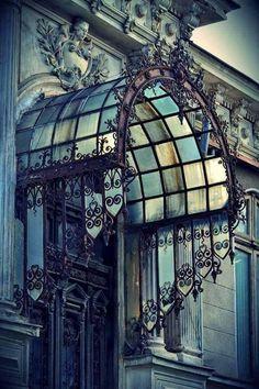 New house entrance gate art nouveau ideas Architecture Art Nouveau, Beautiful Architecture, Beautiful Buildings, Architecture Details, Modern Architecture, Art Nouveau Architektur, Foto Transfer, Porte Cochere, Porche