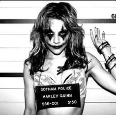 Harley Quinn cosplay. More like what I have in mind...