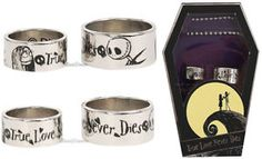 Disney The Nightmare Before Christmas Jack and Sally Wedding Ring Set Coffin Box | eBay