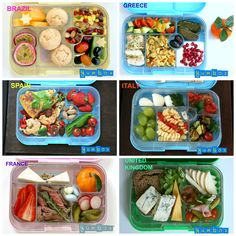 Create your own school lunches around the world. Add a bit of exotic taste to your lunch. Packed lunches don't have to be boring!