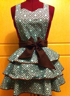Chocolate mint apron