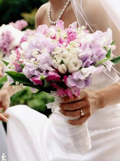 sweet pea bouquet wedding
